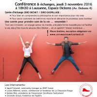 Conference on Zero Waste in Lausanne on November 3rd at 6.30pm