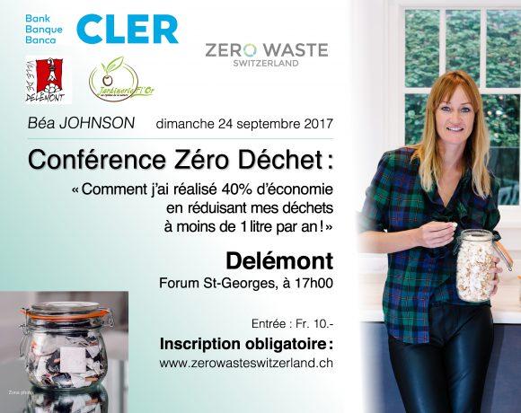 Béa Johnson conférence Zéro Déchet à Delémont – 24 septembre