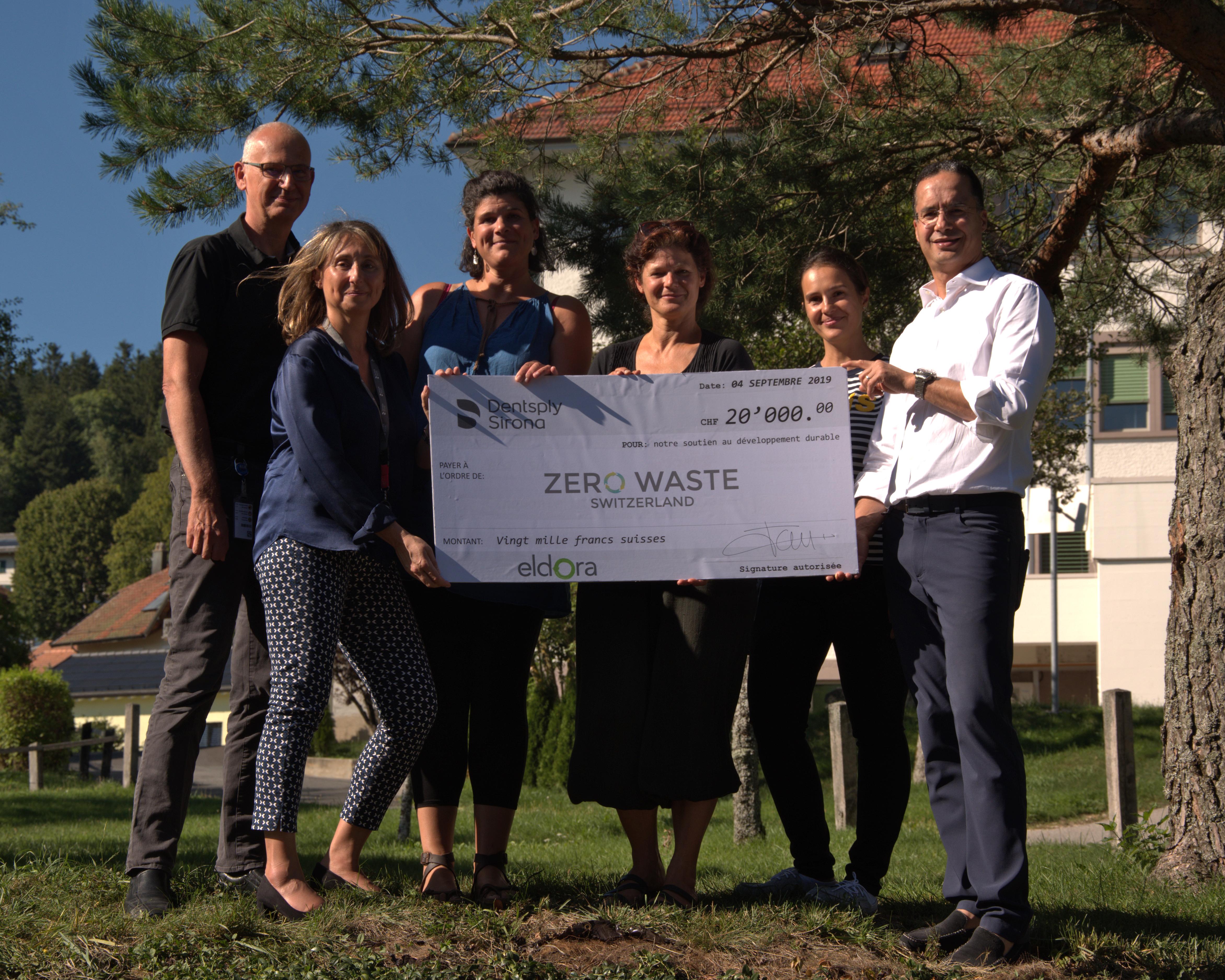 Dentsply Sirona entwickelt ihr CSR und unterstützt ZeroWaste Switzerland
